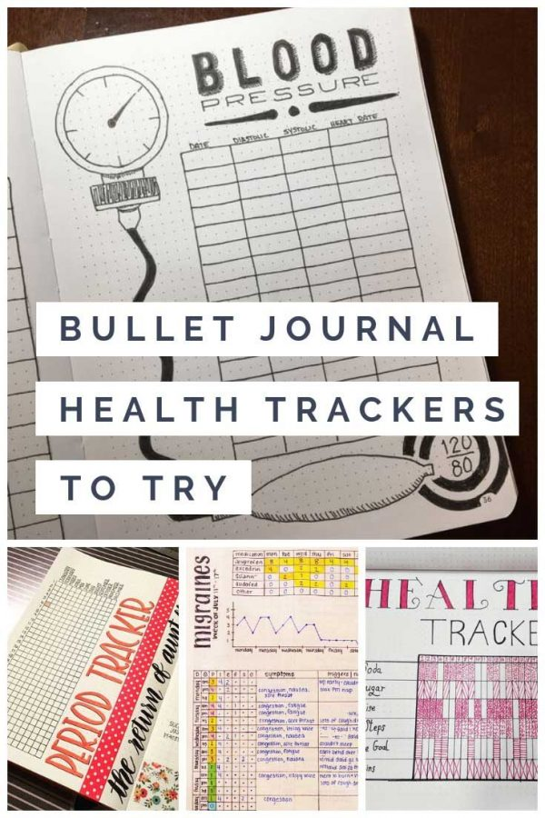 Oh these bullet journal health trackers are just what I need for 2019!