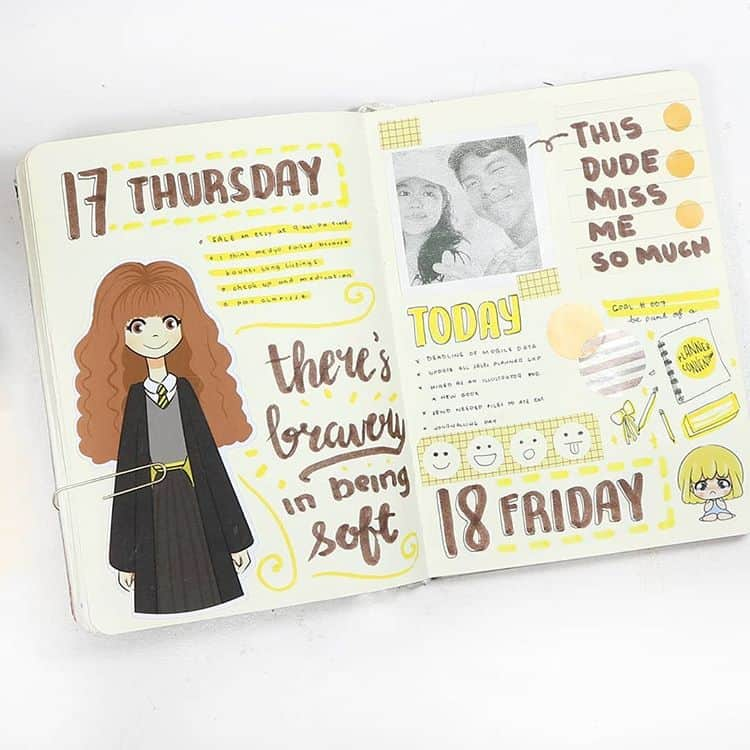 Bullet Journal Hermione Quote Illustration