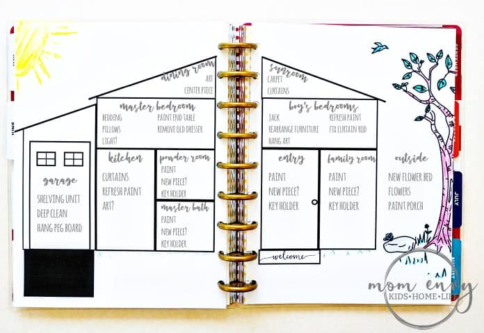 Bullet Journal Home Project Tracker Printable