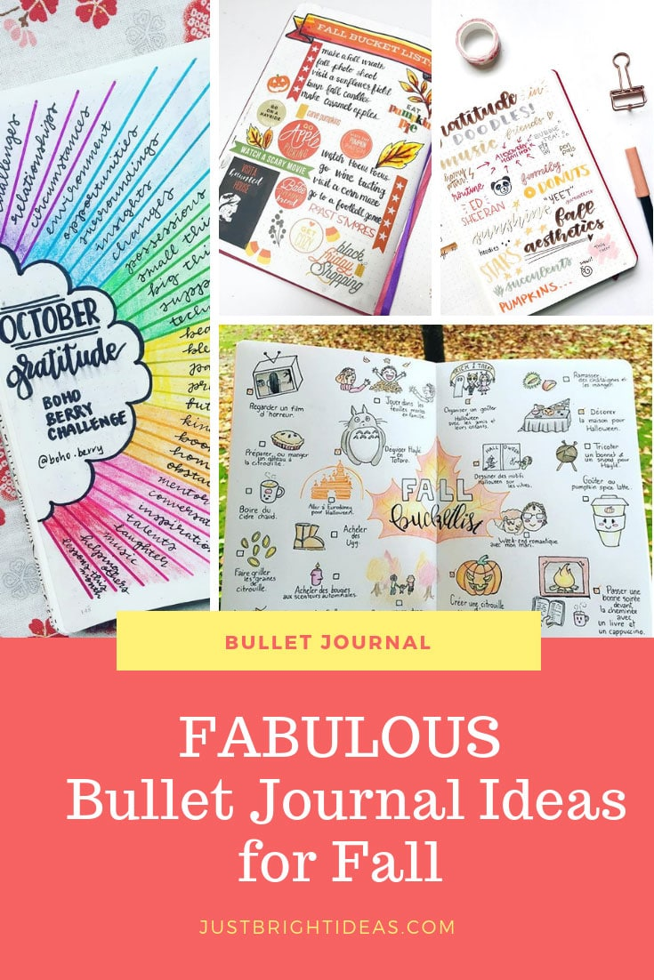 Bullet Journal Ideas for Fall Theme Pages