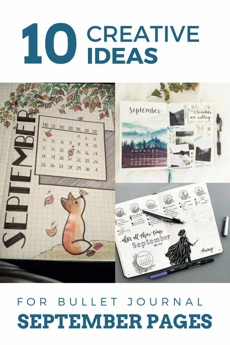 Bullet Journal Ideas for September Spreads