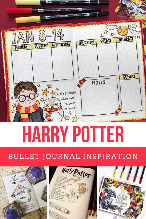 Loving these Harry Potter layouts for my bullet journal!