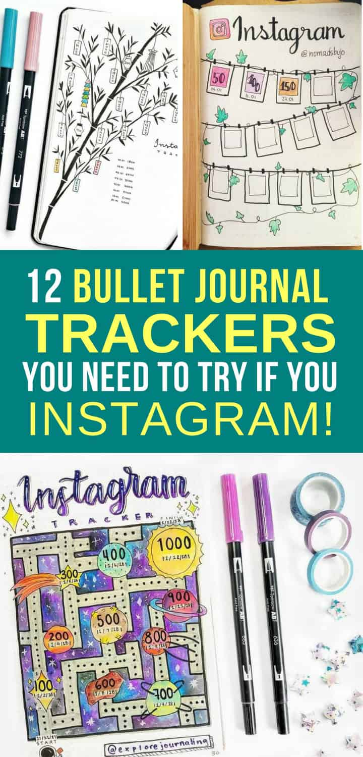 Bullet Journal Instagram Trackers - Pinterest 6