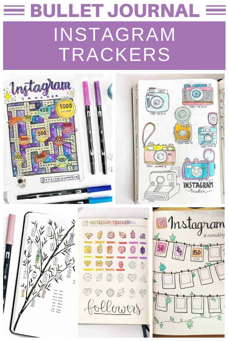 Loving these instagram tracker ideas to use in my bullet journal!
