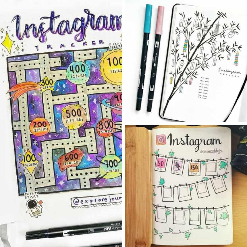 Bullet Journal Instagram Tracking Page