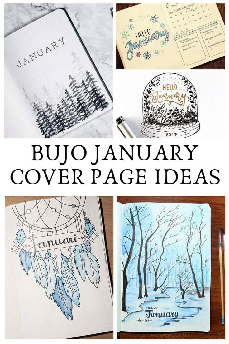 These January title pages are gorgeous and the perfect inspiration for your bullet journal