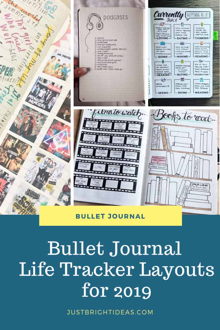 Bullet Journal Life Tracker Ideas