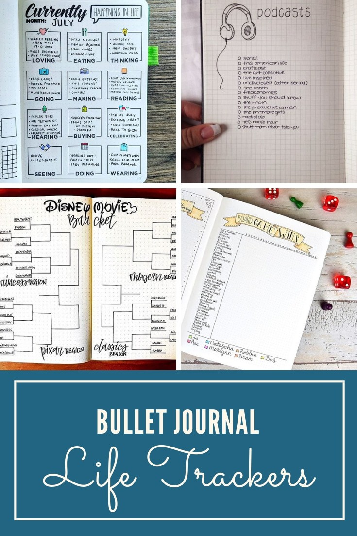 Bullet Journal Life Trackers
