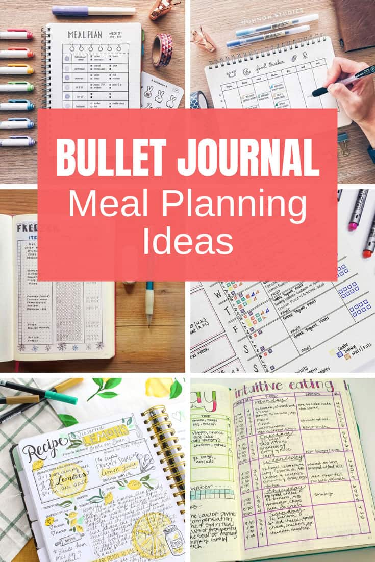 These Bullet Journal meal plan spreads will totally change your life... and save you money on groceries too!