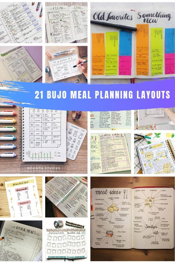 So many great bullet journal meal prep and planning ideas #bulletjournal #bujo #mealprep