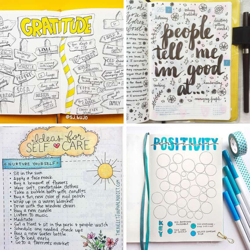 Bullet Journal Mental Health Ideas