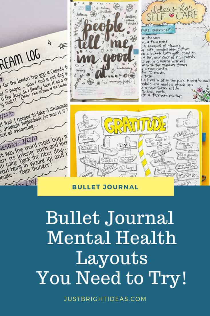Bullet Journal Mental Health Layouts and Spreads