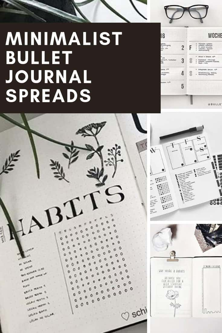 If you embrace a minimalist lifestyle you are going to DROOL over these bullet journal minimalist layouts!