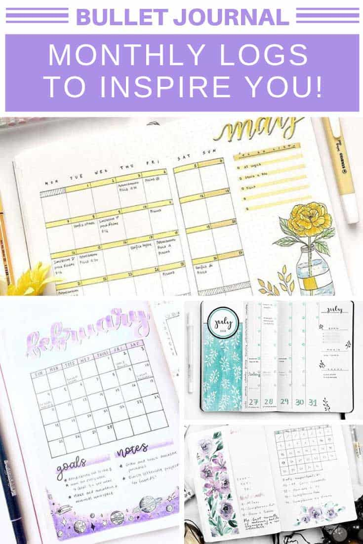 So many wonderful monthly overviews for my bullet journal!