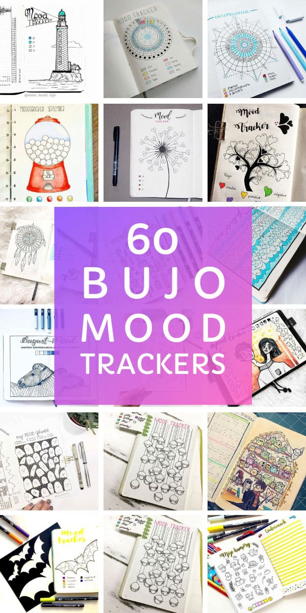 Wow! So many bullet journal mood tracker ideas to monitor your emotions month by month! #bulletjournal