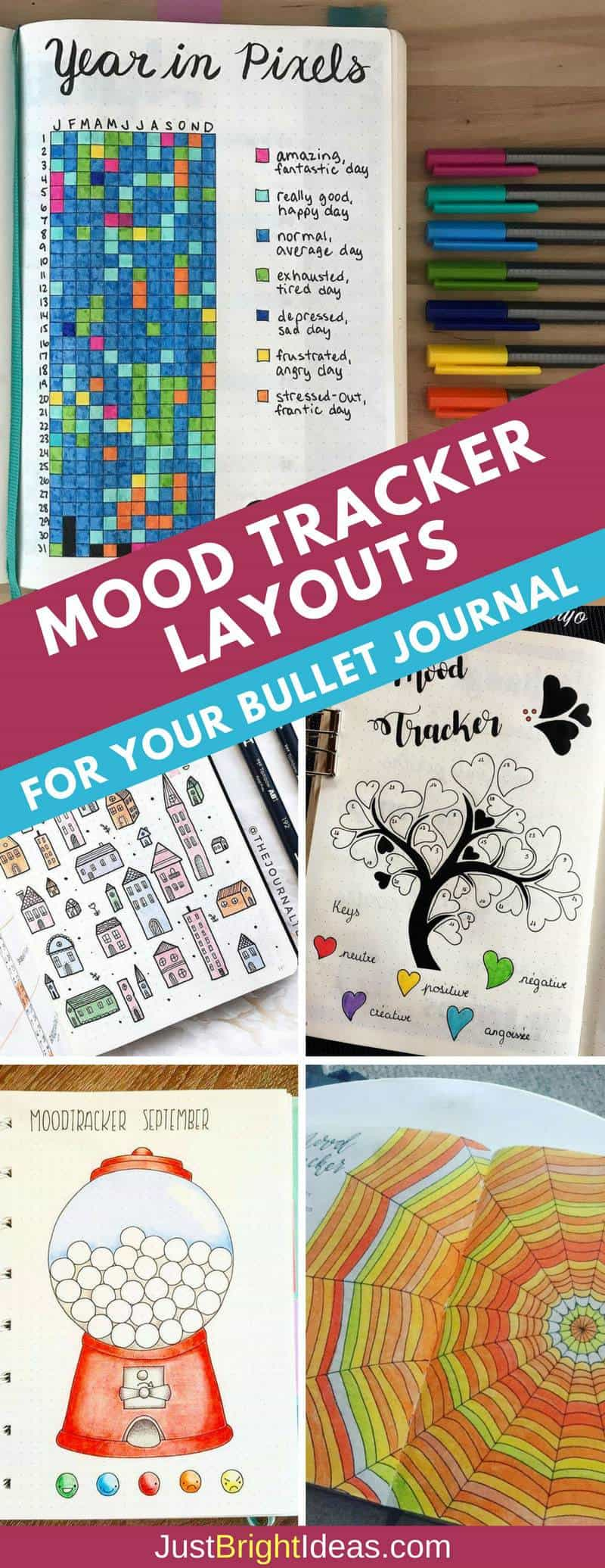 Bullet Journal Mood Tracker Layout Ideas