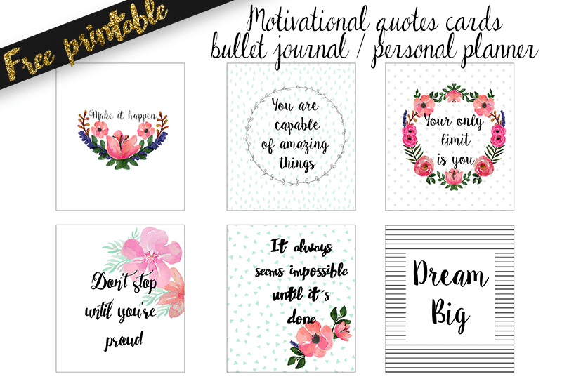 Bullet Journal Motivational Quotes Printable