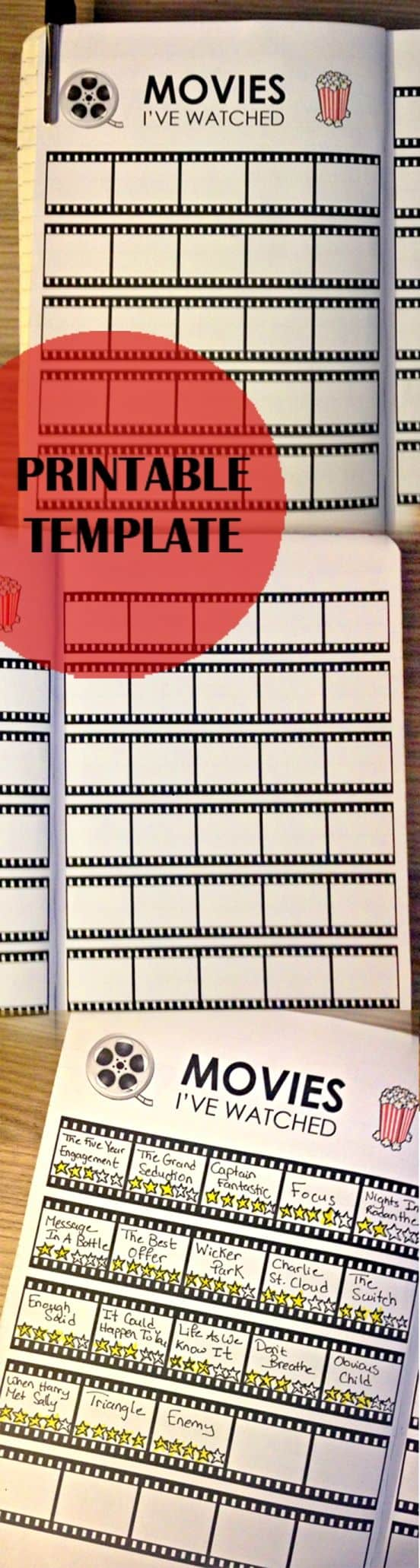 Bullet Journal Movie Tracker