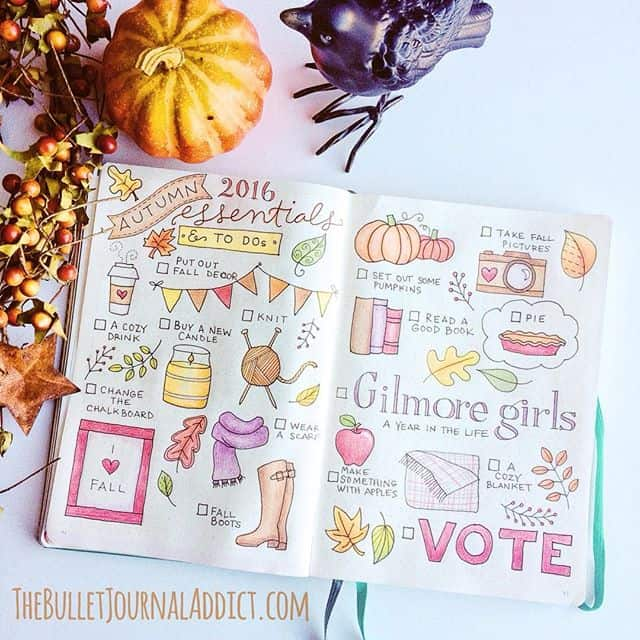 Bullet Journal October Bucket List