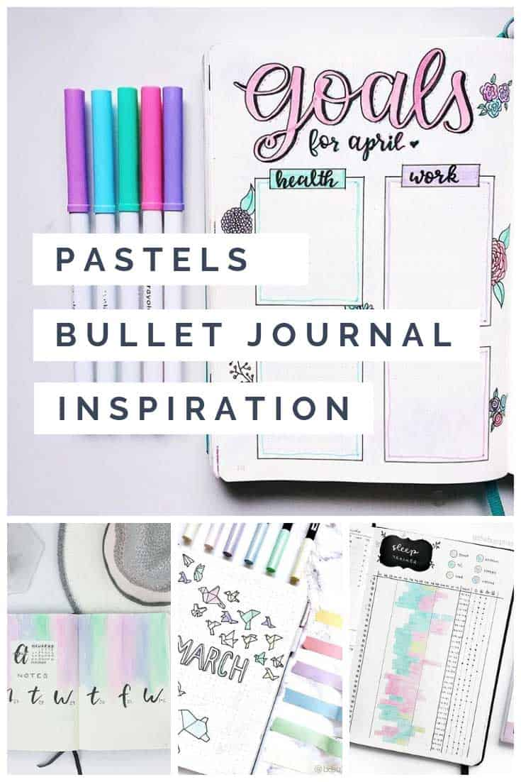 Oooh pretty pastels! Love this bullet journal inspiration collection!