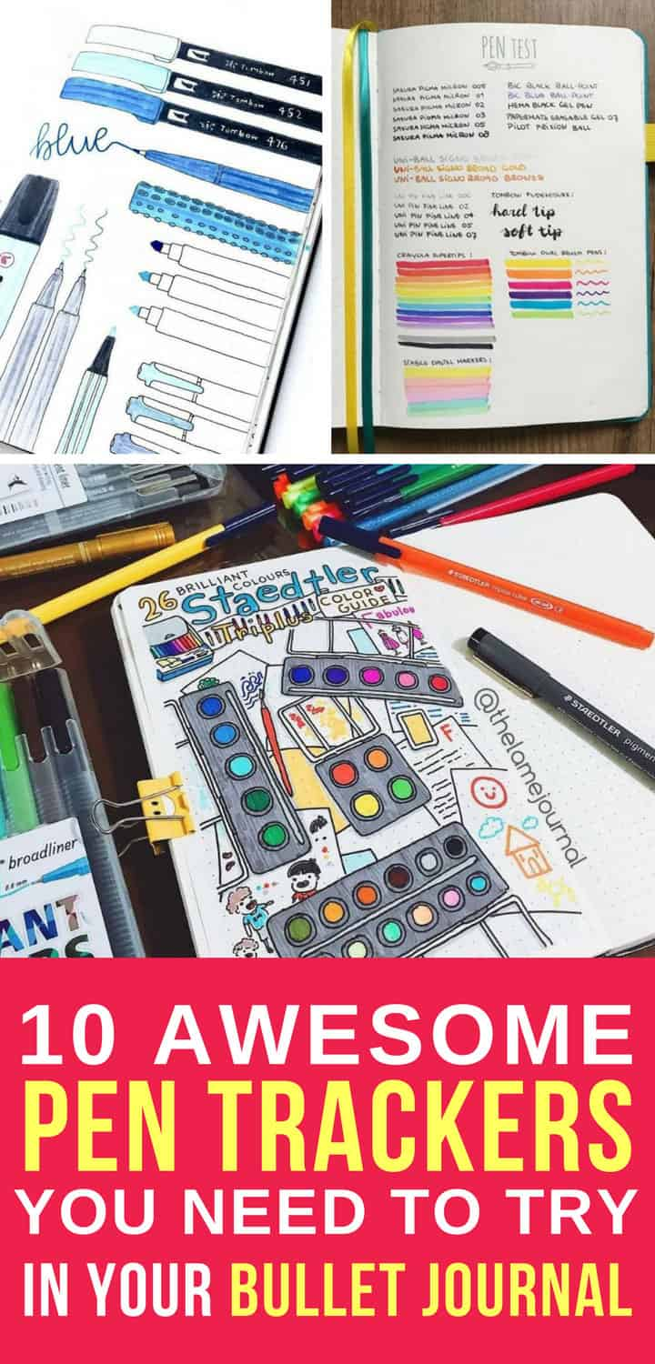Bullet Journal Pen Trackers - Pinterest 4