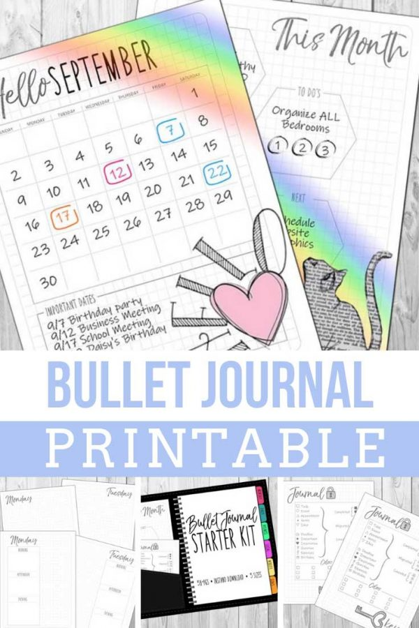 What a great idea! All of the benefits of the bullet journal without having to draw out the darn layouts! Love this printable set!