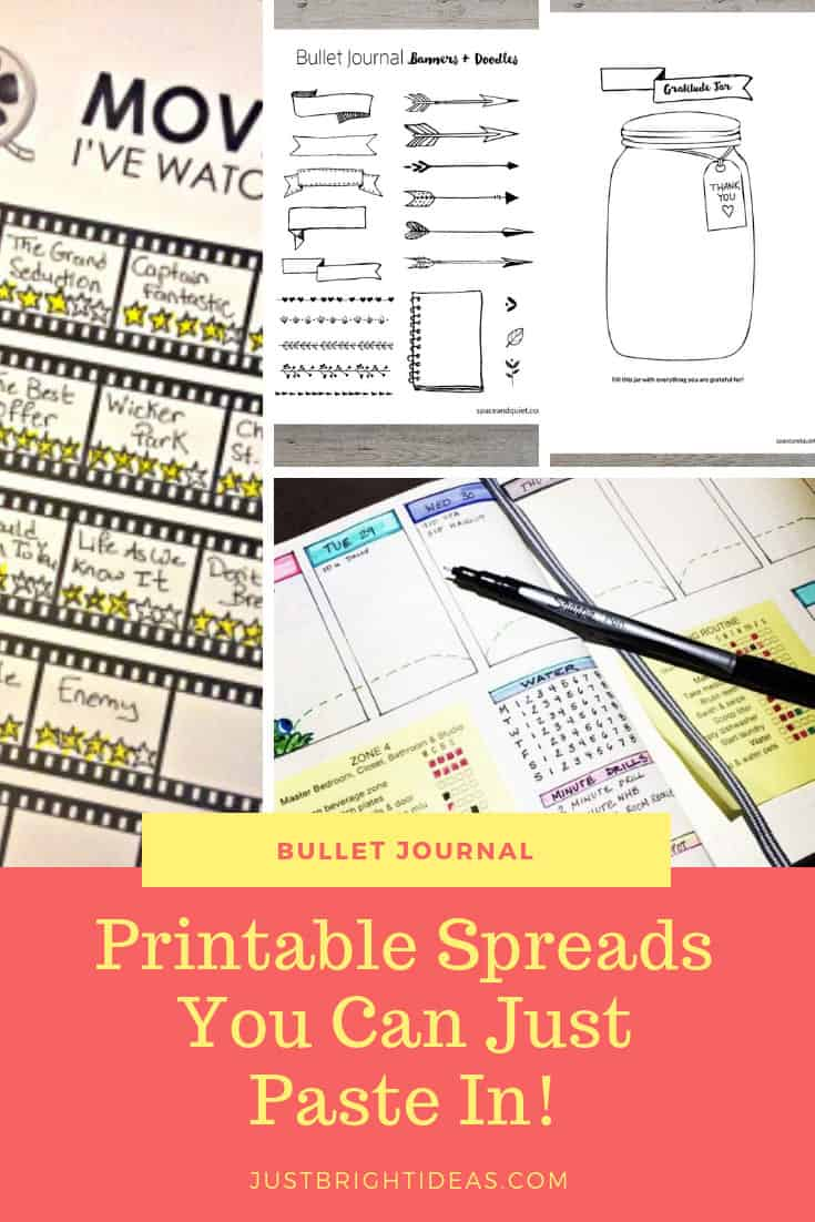 Bullet Journal Printable layouts