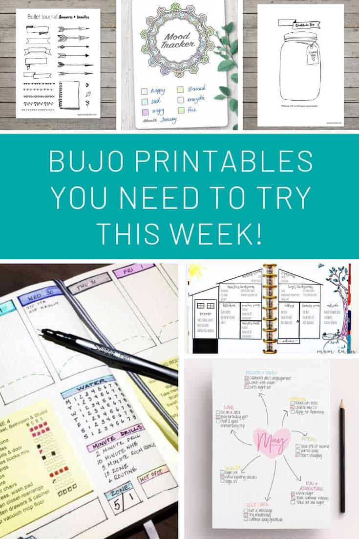 I need to use these bullet journal printables this week!