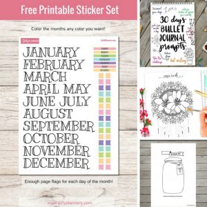 Bullet journal printables you can just cut out and stick in your bujo!