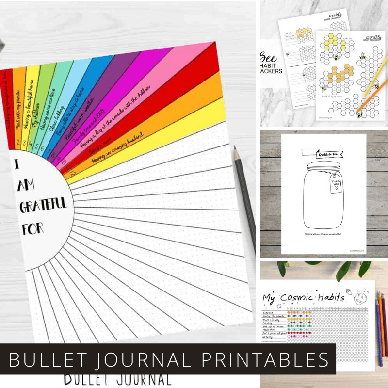 More than 50 Awesome Bullet Journal Printables to Help You be Creative with You're Short on Time