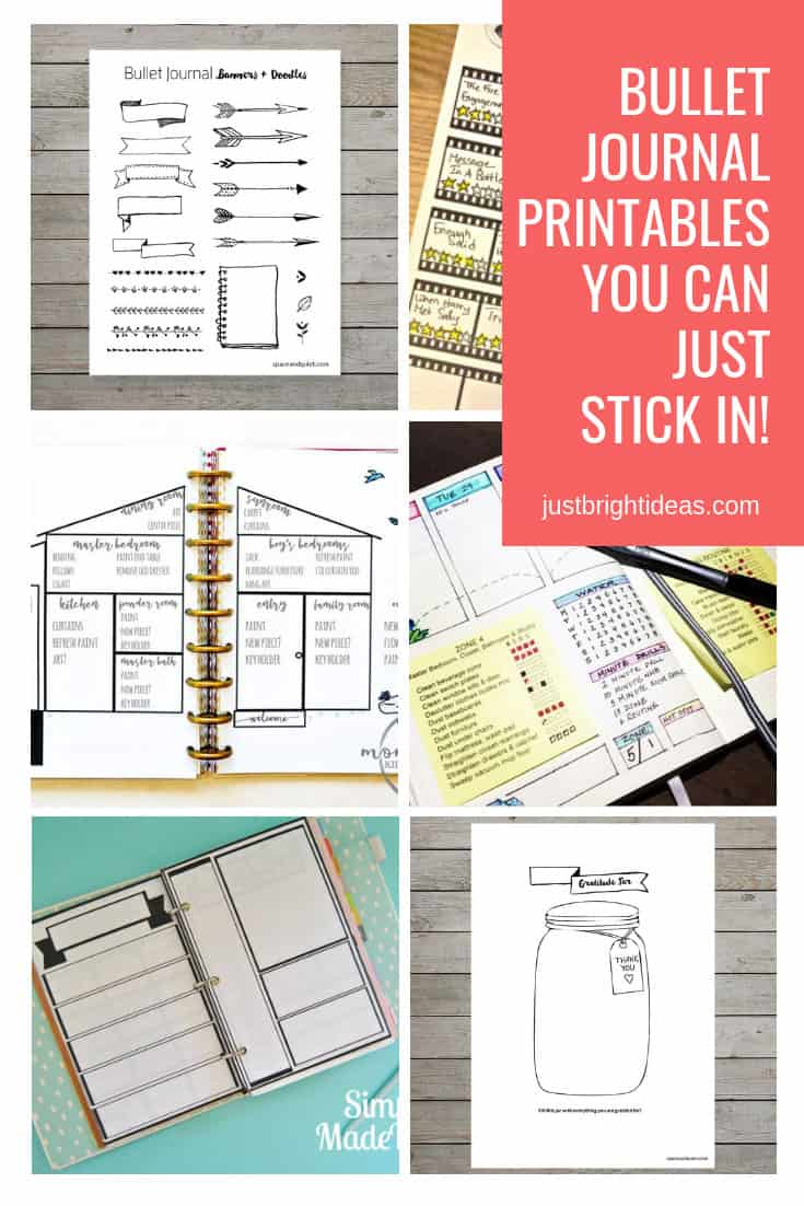Bullet Journal Printables Free and Etsy