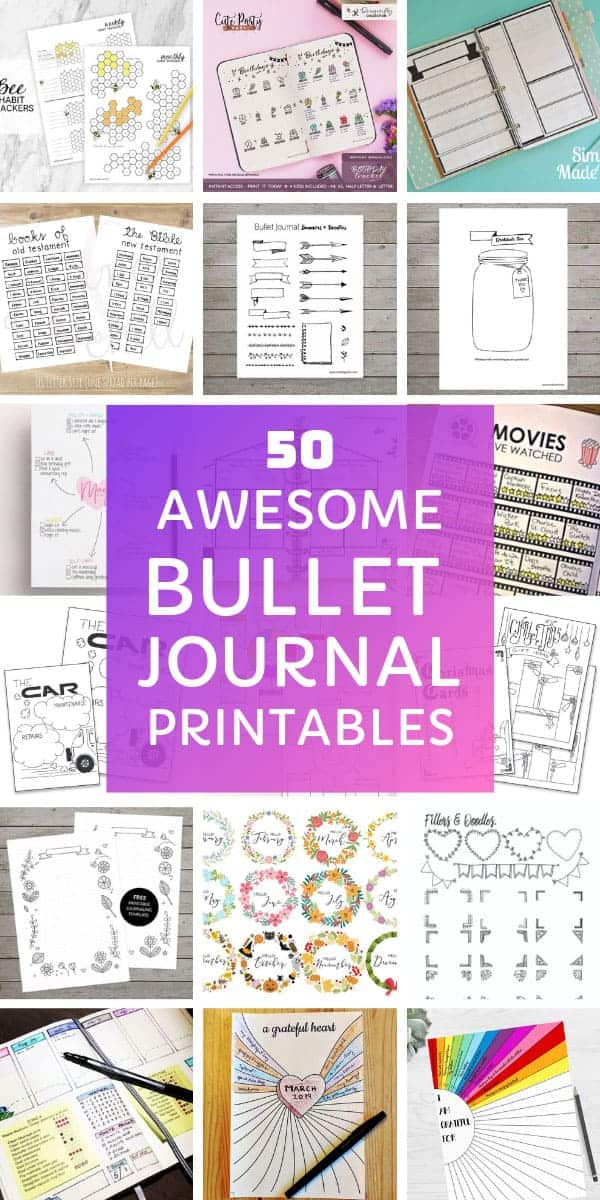 Wow these bullet journal printables to download are AMAZING! #bulletjournal