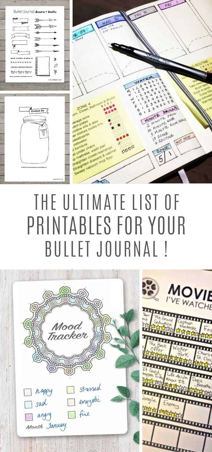 I need these bullet journal printables in my life!