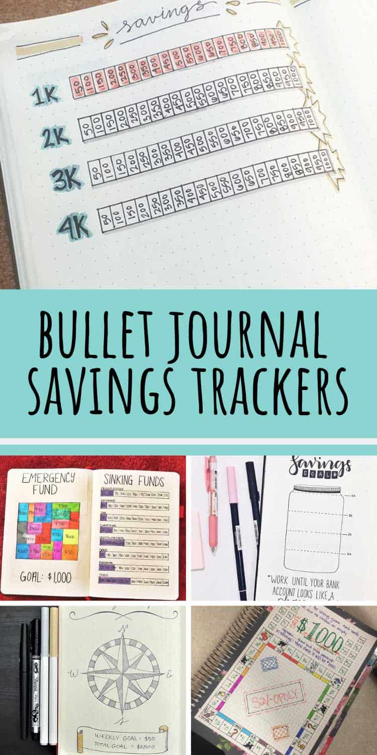 These bullet journal savings spreads are just what i need to save up for my goals!