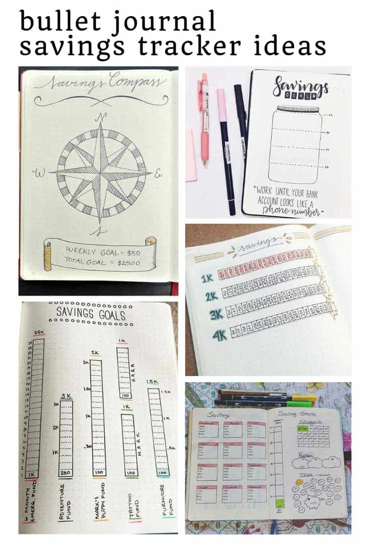 These bullet journal savings trackers ideas are just what i need to meet my goals!