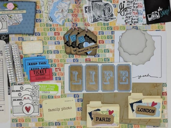 Using Scrapbooking accessories in your Bullet Journal