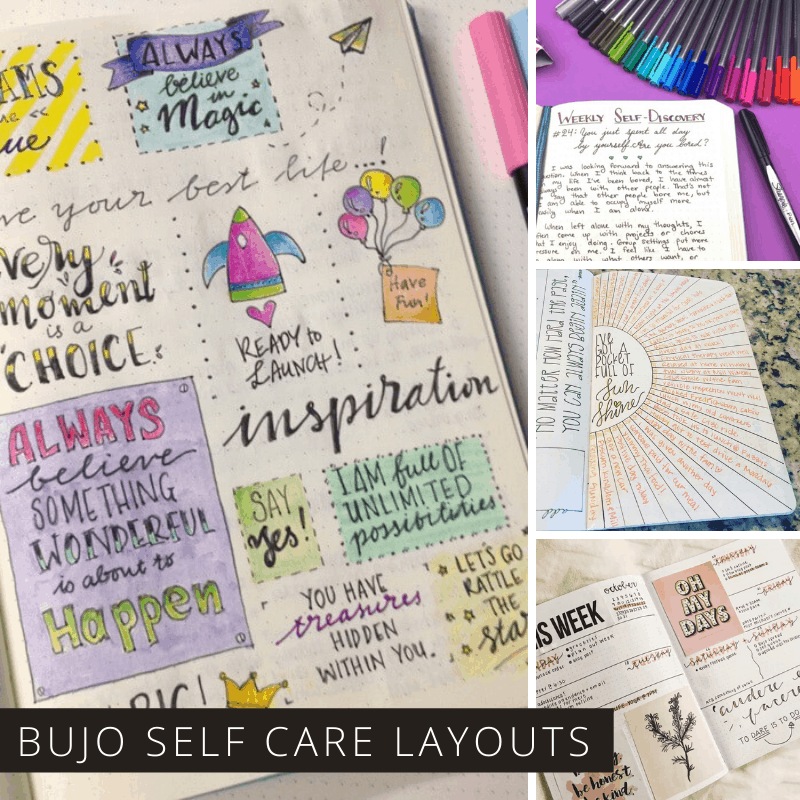 Self care is so important so check out these bullet journal spreads to help remind you to look after yourself