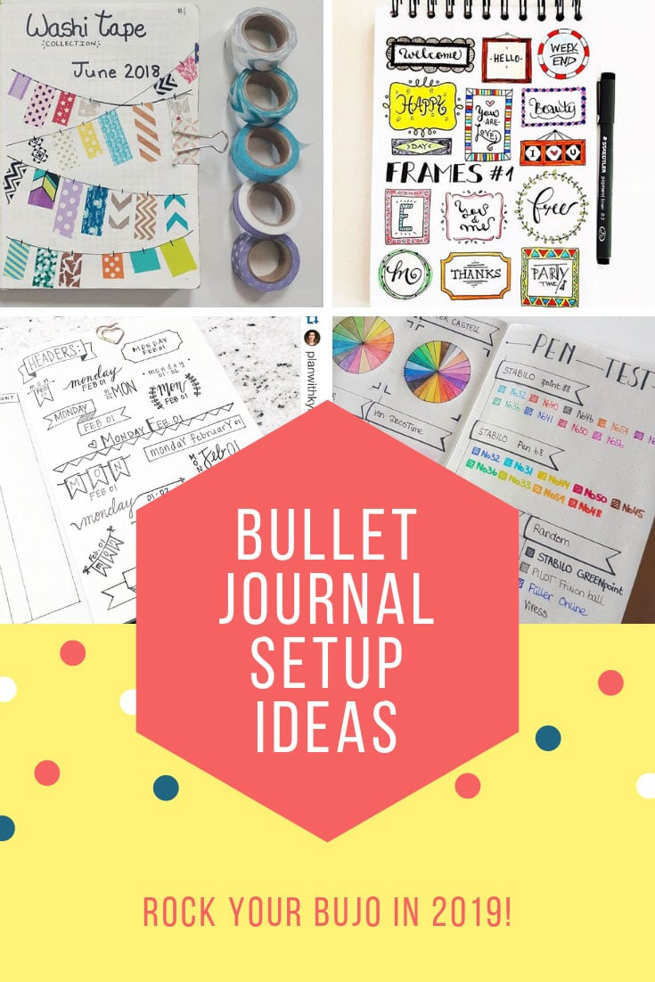 Bullet Journal Set Up Ideas 2019