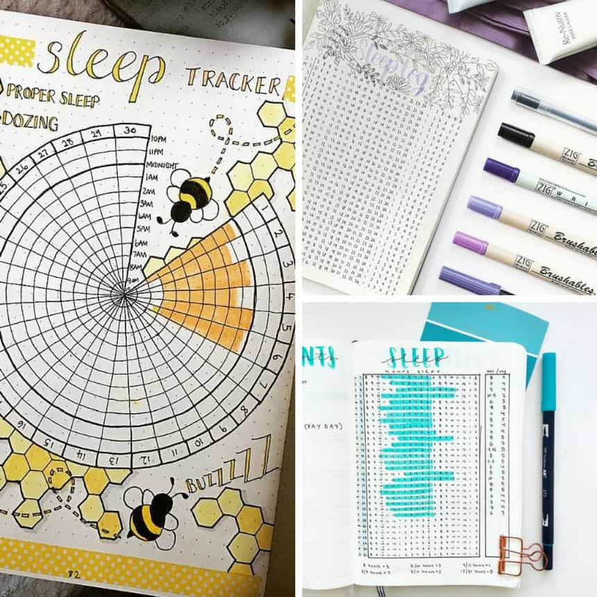 Bullet Journal Sleep Tracker Spread