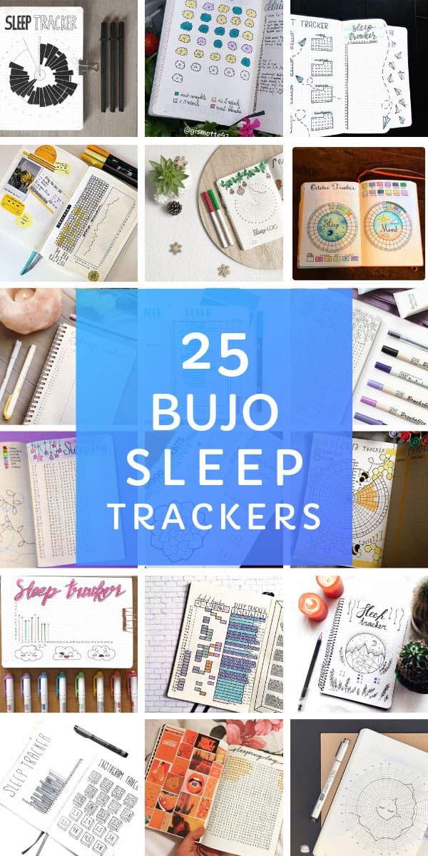 These bullet journal sleep tracker spreads are just the thing you need to monitor your rest #bulletjournal