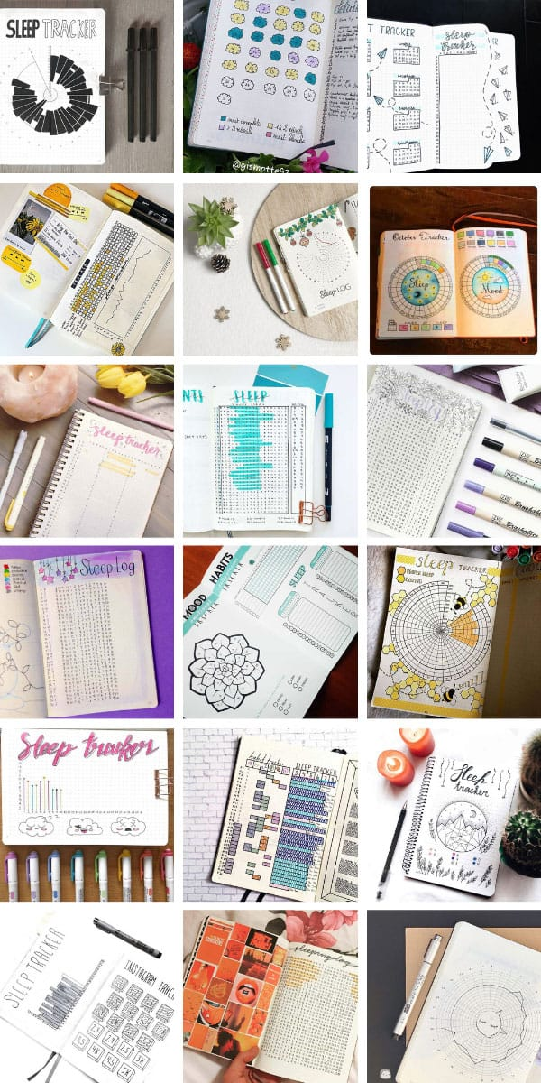 Wow! So many bullet journal sleep trackers to try - including circle ones! #bulletjournal