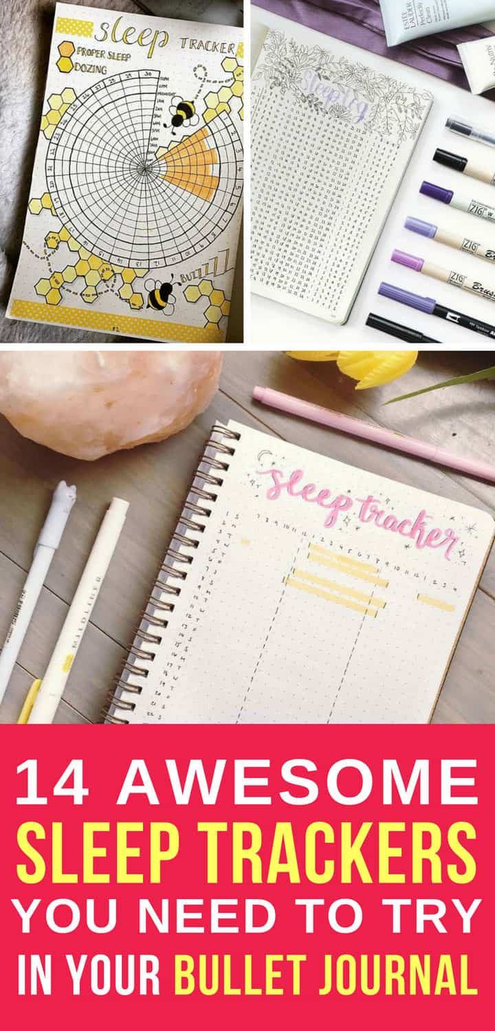 Bullet Journal Sleep Trackers - Pinterest 5