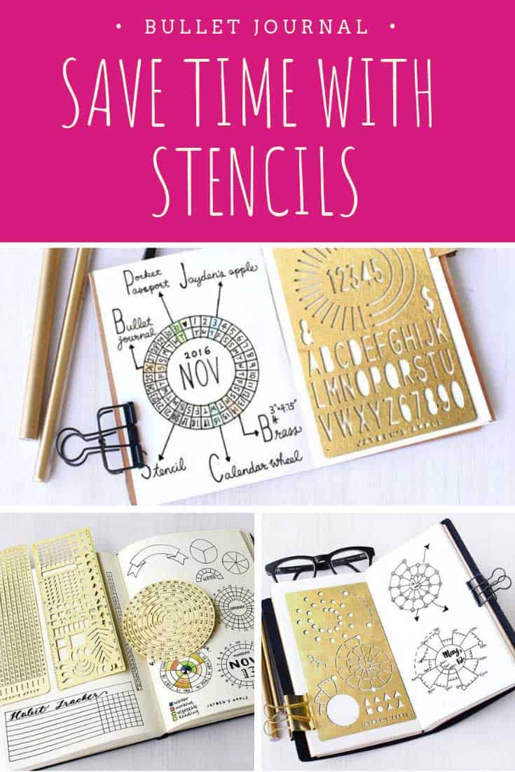 Loving these bullet journal stencils for nice neat layouts!