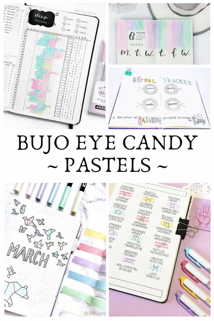 Want some bullet journal eye candy? Check out these PRETTY pastel layouts!