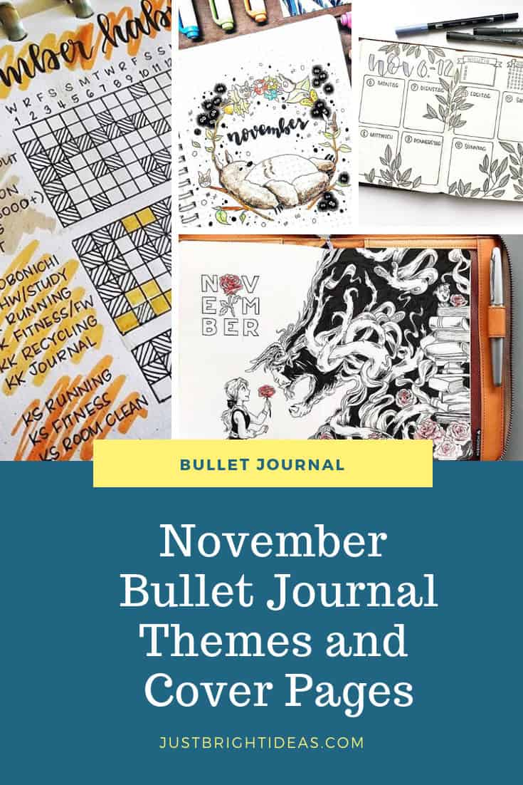 Bullet Journal Themes for November Pinterest Instagram