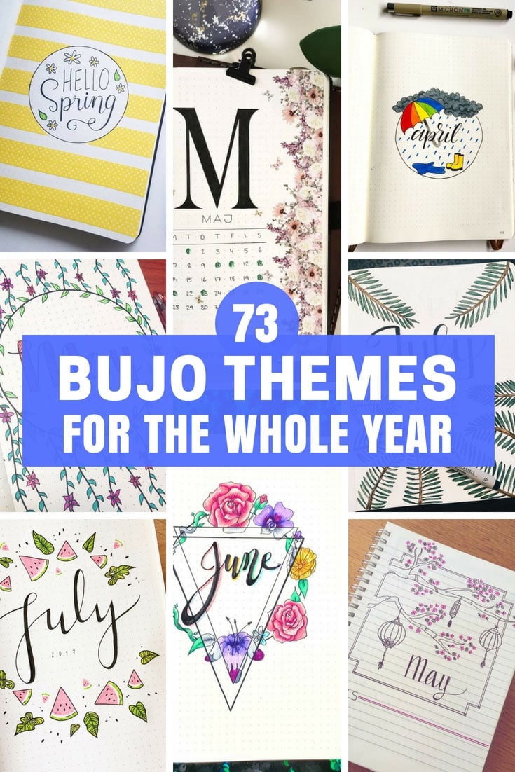 Bullet Journal Themes for One Whole Year