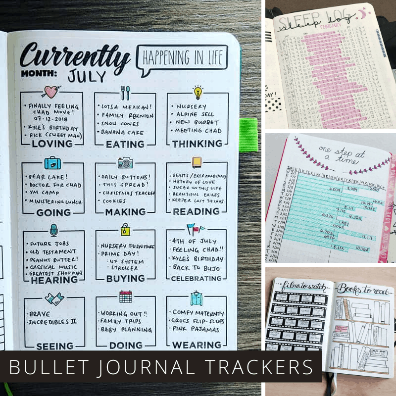 190+ Bullet Journal Ideas 2021 {The ULTIMATE List of Trackers and Collections}