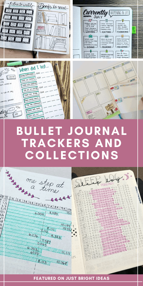 The super fun part of your bujo is the trackers and collections! Choose from our HUGE list of bullet journal ideas 2020. So many things to track in your bullet journal you might not have thought of!
