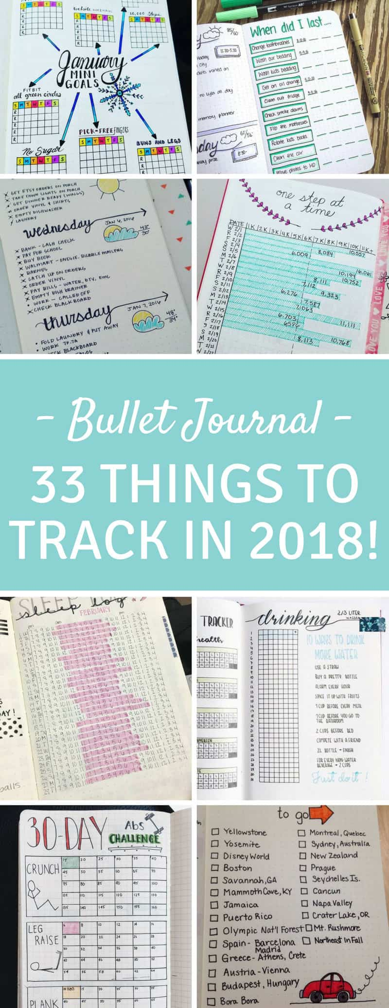 Bullet Journal Tracking Spreads