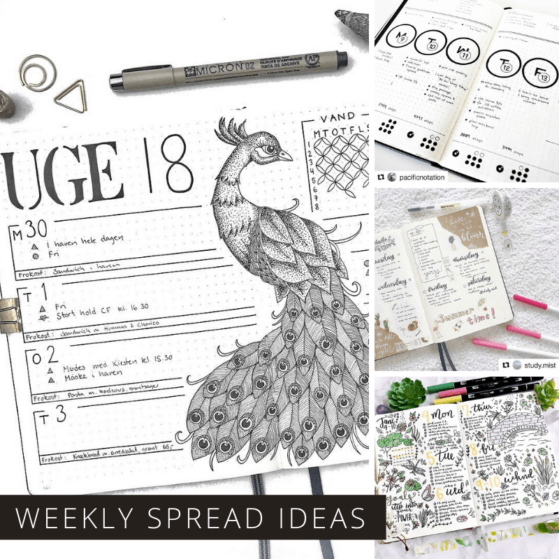 Creative Weekly Bullet Journal Ideas You'll Lose Your Mind Over